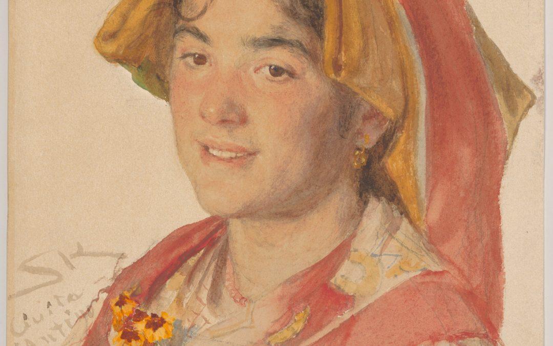 """Ragazza di Civita d'Antino in abito tradizionale """"Catarinella"""" – Peder Severin Krøyer"""