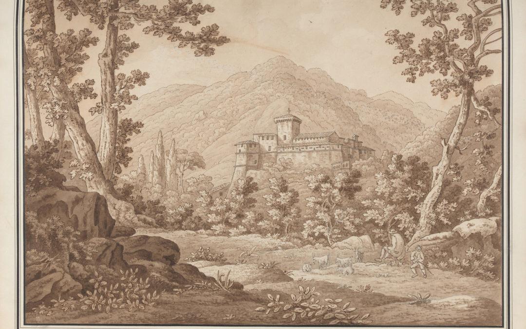 Veduta in Abruzzo, Castello di Balsorano – Sir Richard Colt Hoare