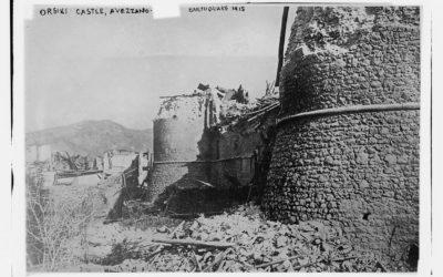 Castello Orsini, Avezzano. Terremoto del 1915