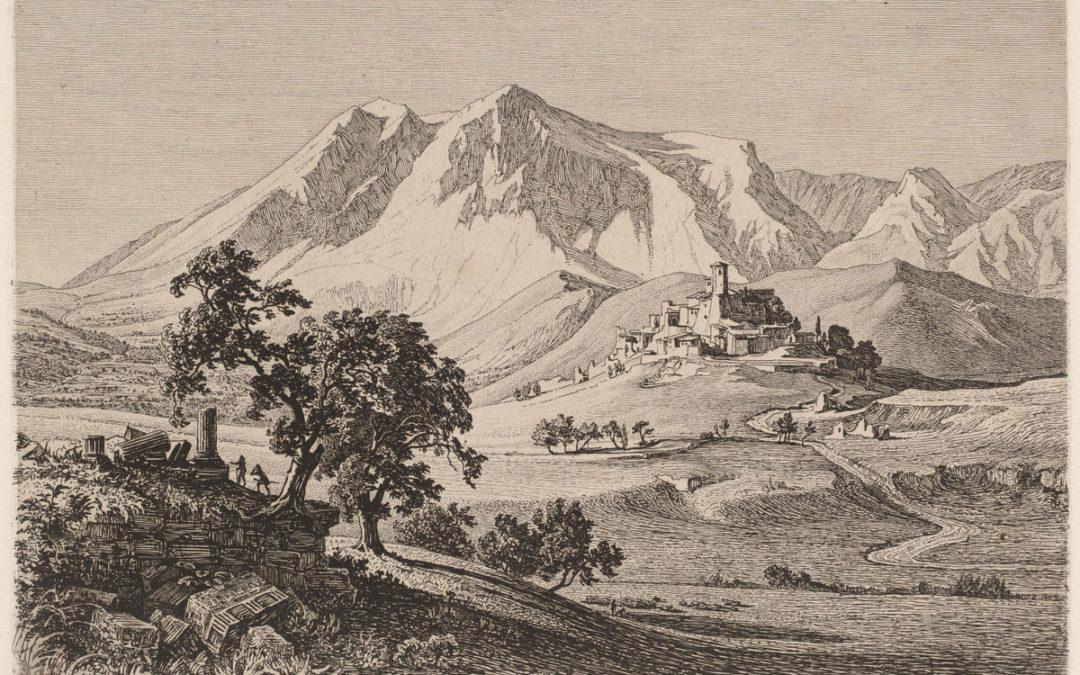 Veduta della città di Albe sotto il Monte Velino negli Abruzzi – Georg H. Busse