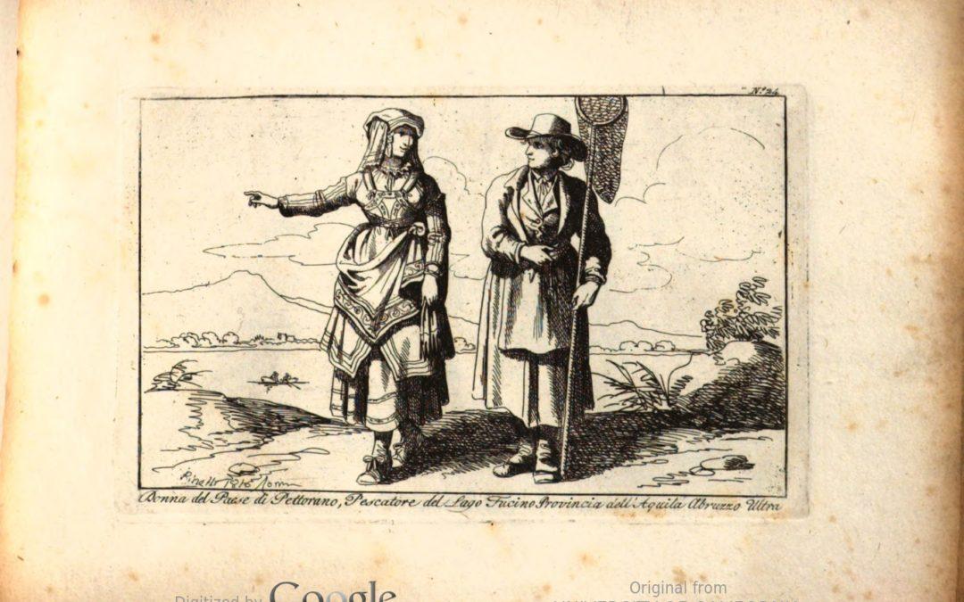 Donna del paese di Pettorano, pescatore del lago Fucino – Bartolomeo Pinelli