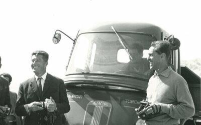 Walter Bonatti all'inaugurazione del Rifugio sul Monte Magnola