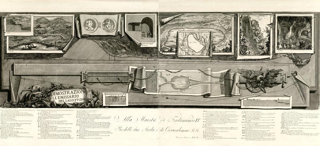 Dimostrazioni dell'emissario del Lago Fucino – Giovanni Battista e Francesco Piranesi
