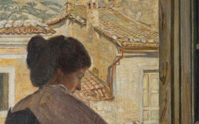 Giovane donna italiana al davanzale della finestra, Civita d'Antino – Poul S. Christiansen