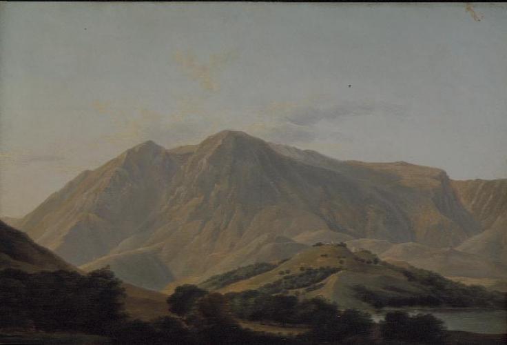 Veduta del Monte Velino, montagna nei pressi del Lago di Celano, nel Regno di Napoli – Jean-Joseph-Xavier Bidauld