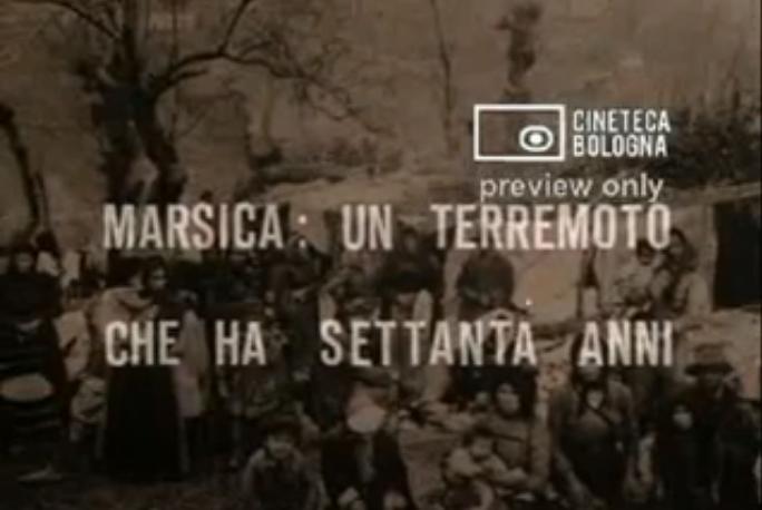 Marsica: un terremoto che ha settanta anni (1982)